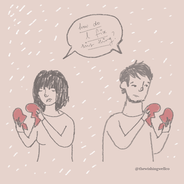 how to deal with a breakup illustration